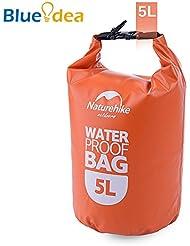 Blueidea® Bolsa Estanca Bolsas de Deporte Aire Libre Bolsa Impermeable para Canoa Floating Nautica Camping Rafting (Naranja, 5L)