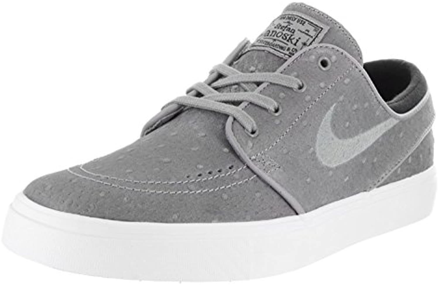 Nike Men's Stefan Janoski Canvas Skate Shoe, negro, blanco (Dust/Dust/Black/White), 42.5 D(M) EU/8 D(M) UK