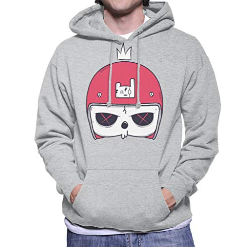 Cartoon Skull Helmet Men's Hooded Sweatshirt