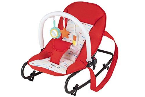 Safety 1st Koala - Gandulita reclinable, fija o balancín, color Red Lines