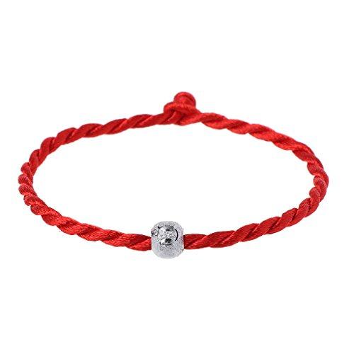 a7f22d210d45 Cuigu Pulseras de la Suerte de Perla de la Suerte de Cadena Rojo de Cábala  Regulables