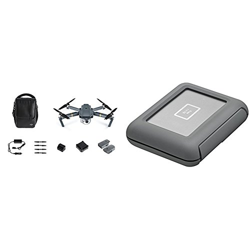 DJI Mavic Pro Fly More Drone Bundle with DJI Copilot 2000 GB Backup On Set Solution (BOSS)