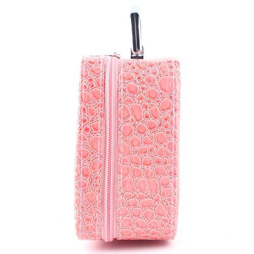 Portable Taille Crocodile Motif Femmes Maquillage Sacs À Cosmétiques Étanche À La Poussière Étanche Voyage Beauté Trousse De Toilette Organisateur rose