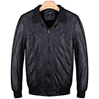 ZZHH Winter Men's Fashion Plus Velvet Washed Leather Jacket . (Mens Completo Giacca In Nylon)
