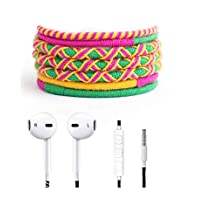 Crossloop Designer Series 3.5mm Universal In-Ear Headphones With Mic And Volume Control (Green, Magenta & Yellow)