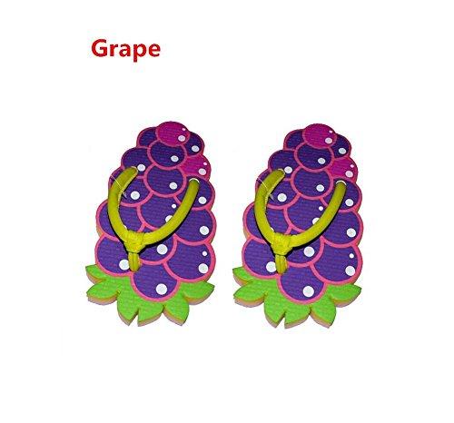 YYHSO Set Flip Flop Adulti Unisex - (set di 2) Pattini Cool Fruit Cartoon / One Size 35-38 , orange grape