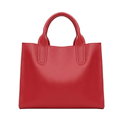 Femmina Borsa Moda Semplice Borsa In Pelle Borsa A Tracolla Red