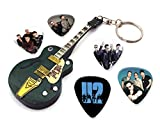 We Love Guitars U2 Bono WKC 1 Mini-Porte-clésdeGuitareet5Xmédiators
