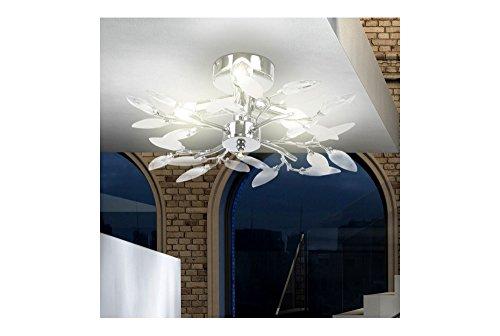 Plafoniere Con Foglie : Plafoniera con foglie decorative per salotto e sala da pranzo lampadario
