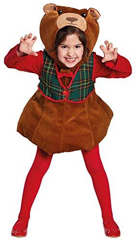 (Unbekannt Teddy-Bär Kostüm | Größe 116 | Kinder-Plüsch-Kostüm)