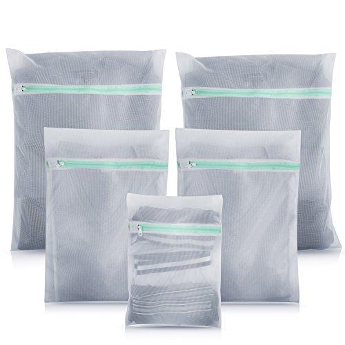 Premium Wäschesack für Waschmaschine (5er-Set) - ideal für empfindliche Dessous, BH und Schuhe - Unfassbar robuster Reißverschluss
