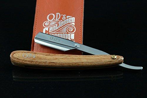 O.D´s Gentlemen Grooming Shavette - Handgefertigtes Rasiermesser mit Holzgriff Abbildung 3