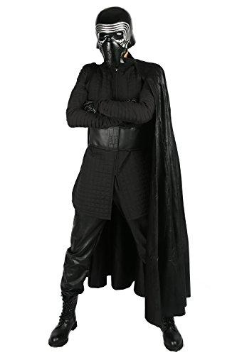 (ValuePack Kylo Kostüm Cosplay Vollständiger Satz Erwachsene Halloween Kleidung mit Handschuhe Gürtel Fancy Dress Herren Outfit)