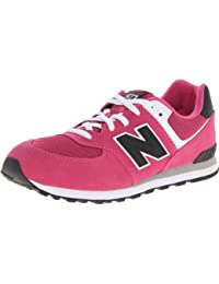 New Balance - Zapatillas para niña rosa rosa, color rosa, talla 5 Child UK