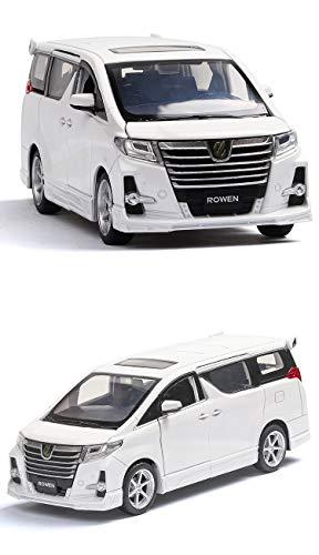 GXYGWJ Modellauto Toyota Alpha Modell 1:32 Simulation Simulation Druckgusslegierung Modell Kindergeschenke 15.6x5.8x5.8cm (Farbe : Weiß)