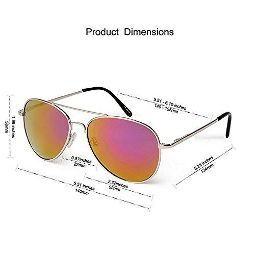 Elligator Stylish Aviator Mirrored Sunglasses Combo For Men & Women( combo of 4 )