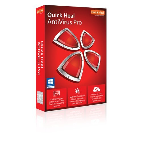 Quick Heal Antivirus Pro Latest Version - 1 PC, 1 Year (CD/DVD) (free 2 to 6 months extra validity and chance to win prizes)