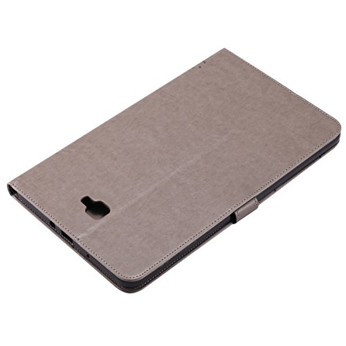 Custodia Galaxy Tab A 10.1, Galaxy Tab A 10.1 Flip Case Leather, SainCat Custodia in Pelle Cover per Samsung Galaxy Tab A 10.1 T580/T585, Anti-Scratch Book Style Protettiva Caso PU Leather Flip Portaf Grigio
