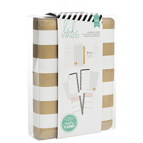 American Crafts Heidi Swapp Personal Memory Planner-Gold Foil Stripe (Organizer Craft)