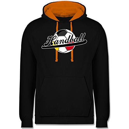 Handball - Handball Deutschland - Kontrast Hoodie Schwarz/Orange