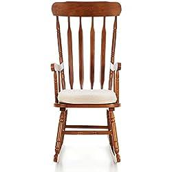 My_Living Sam Chaise à Bascule Bois Beige Simple 78x 56x 108cm