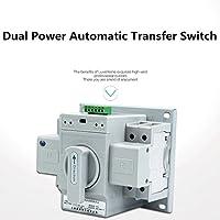 guangshun Nuevo Home Interruptor de doble potencia de transferencia automática 2P 63 A 220 V interruptor de doble potencia interruptor automático de cambio
