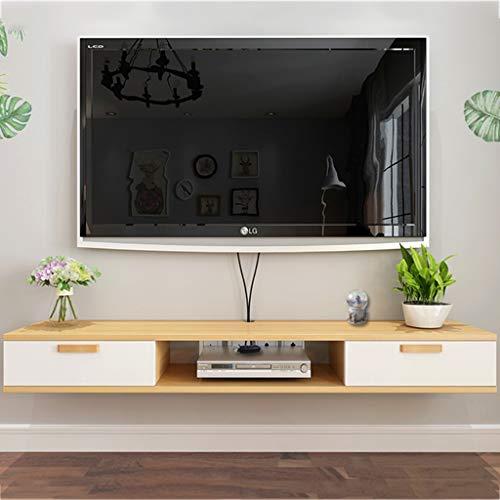 V-Ständer Wand Medienkonsole TV-Schrank Lagerregal DVD- / Blu-ray-Player Satelliten-TV-Box Kabelbox (Color : A, Size : 120×24×16cm) ()