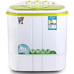 DIOE Machine à Laver Semi-Automatique compacte à Deux bacs avec Une laveuse et Une centrifugeuse de 2,2 kg, idéale pour Les dortoirs, Les Appartements, la synchronisation et Le Faible Bruit