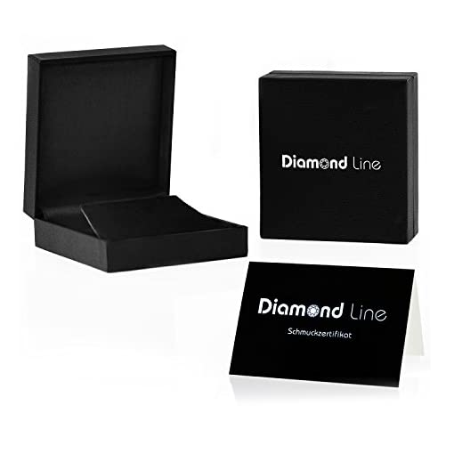 Diamond Line Goldkette mit Diamant-Anhänger  375 Gold 10 Diamanten 0,03 ct.