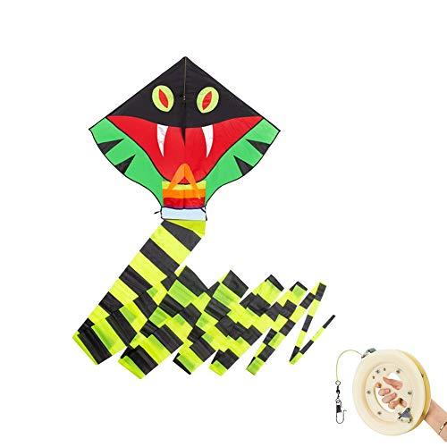 TYD.L Drachen J-098 Brise Leicht Zu Fliegen Langlebig Kind Erwachsener Anfänger Schlange Drachen Verwendet Für Im Freien Park Strand Geschenk 1,1 * 0,9 M Schwanzlänge 10M (größe : Line length400M)