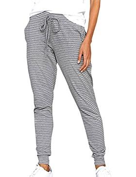 1c75aa8cc3 Gavemenget Mujeres Rayas Pantalones con Cordón Casual Largo Pants Pantalón  de Deportivos Trousers