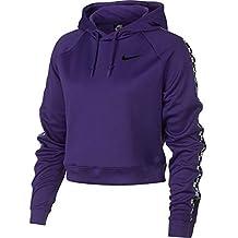 Nike HYP FM Hoodie Crop PK Sudadera con Capucha, Mujer, Court Purple/Black