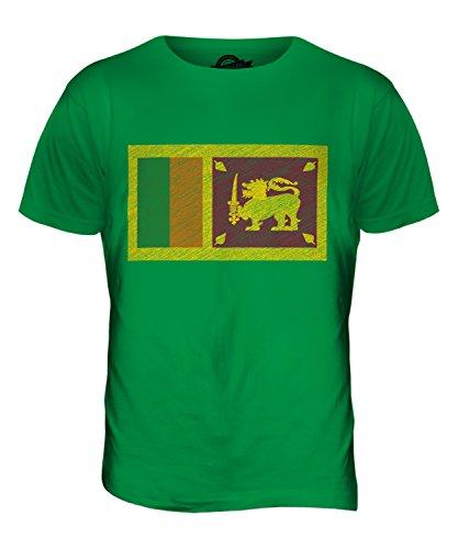 CandyMix Sri Lanka Kritzelte Flagge Herren T Shirt Grün