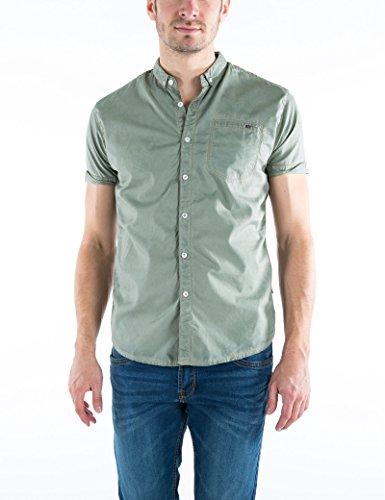 Timezone Herren Freizeithemd Moorebd Shortsleeve Grün (Tea 4213), 43 (L) (Shirt Jeans-short Work Sleeve)