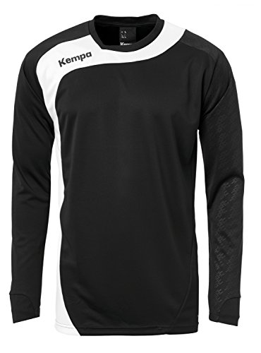Kempa Bekleidung Teamsport Peak Longsleeve Herren Langarmshirt, schwarz/Weiß, XL