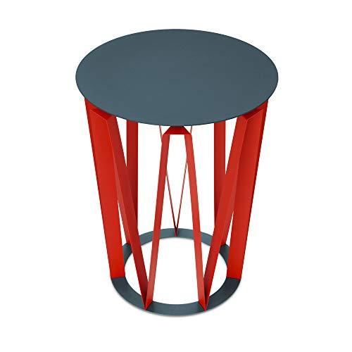 Presse Citron Table d'appoint Arlette 37.5x48cm Granit et Rouge