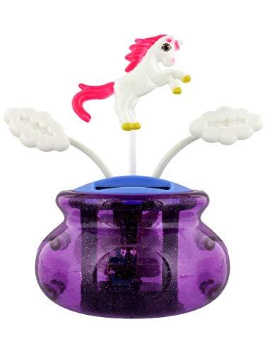 Grindstore Ornamento Cute Unicorn And Clouds Solar Pal Pannello Solare 9 x 10.5