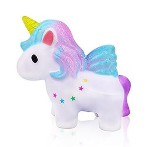 mi ji Squishy Kawaii,Squishy Unicornio,Squishy Doll de Diseño Animado Perfumada Lenta Levantar Exquisito Niño Juguete antiestrés (Galaxia) de mi ji
