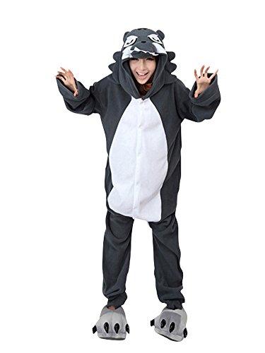 Moollyfox Kigurumi Pijamas Unisexo Adulto Traje Disfraz Adulto Animal Pyjamas Lobo L
