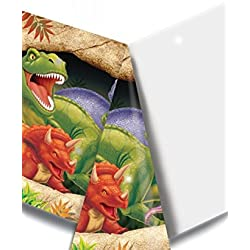 Mantel de plástico cumpleaños dinosaurios 137x 274cm