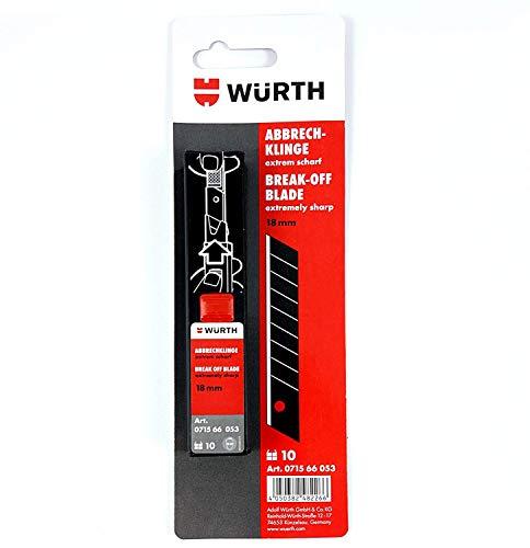 10 St. Würth Abbrechklinge extrem scharf 18mm (4050382482266) Ersatzklinge (Kostüm Themen Für Die Arbeit)