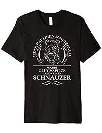 Schnauzer Schutzengel Hunde T-Shirt Hund Shirt Geschenk