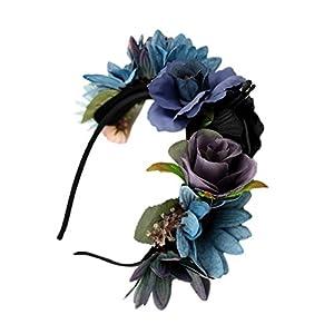Gazechimp Boho Floral Crown Blume Stirnband Haar Girlande Hochzeit Braut Kopfschmuck