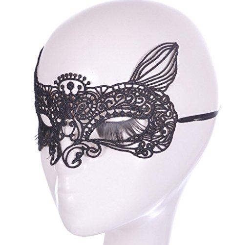 uesae Halloween Masken Erwachsene Face Maske Lady Make-up Dance Maske Spitze Ausschnitt Maske Halloween Dekorationen Halloween Dance Show Masquerade Zubehör 1PCS Free Size Cat Fairy (Scary Halloween-make-up Cat)