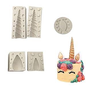 Formemory DIY Einhorn Silikonform Kuchenform Fondant Tortendeko Schokolade Form Backen Formen Dekorieren Handgefertigte Zucker
