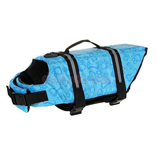 Aquiver Chaleco reflectante de seguridad para perro, para la vida de mascotas, talla ajustable, para salvar la vida, para natación, surf, barco, caza