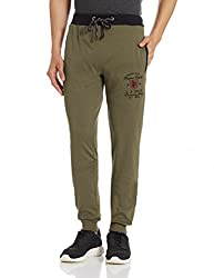 John Players Mens Joggers (8907482001643_JCMCTPA160019004_34W x 36L_Pale Olive Green)
