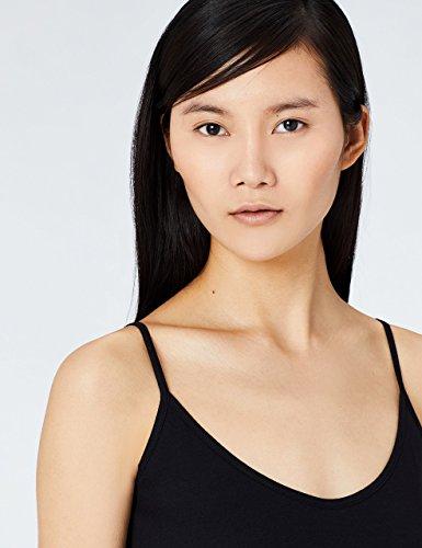 MERAKI Top Damen mit V-Ausschnitt, 2er Pack Schwarz (Black Beauty/White)