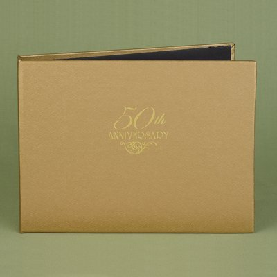 (50th Anniversary Gold Personalized Guest Book by Hortense B. Hewitt)