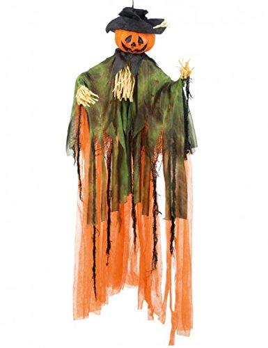 Boland - decorazione zucca halloween mr. pumpkin, arancio/verde/nero, 100 cm, 72035